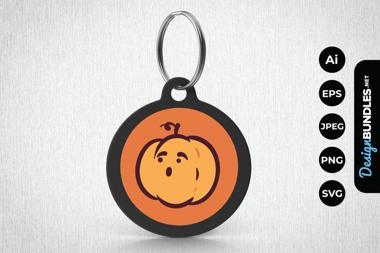 Cute Pumpkin Head Keychain example image 1