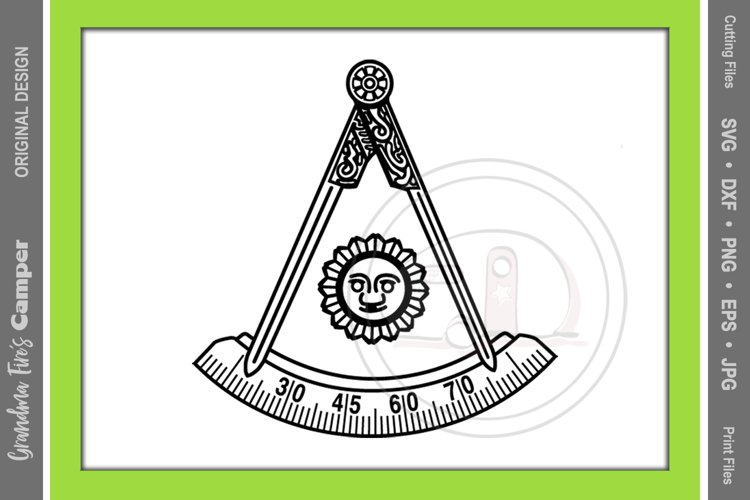 Masonic Past Master SVG Bundle, Five Framing Options example image 1