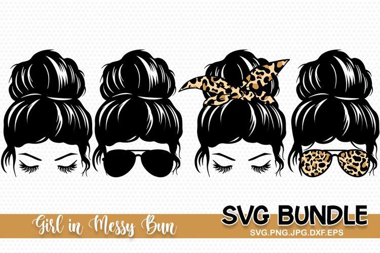 Messy Bun SVG, Messy hair, Hair Bun svg example image 1