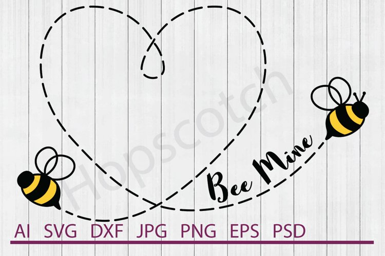 Bee Mine SVG, Bees SVG, DXF File, Cuttable File example image 1