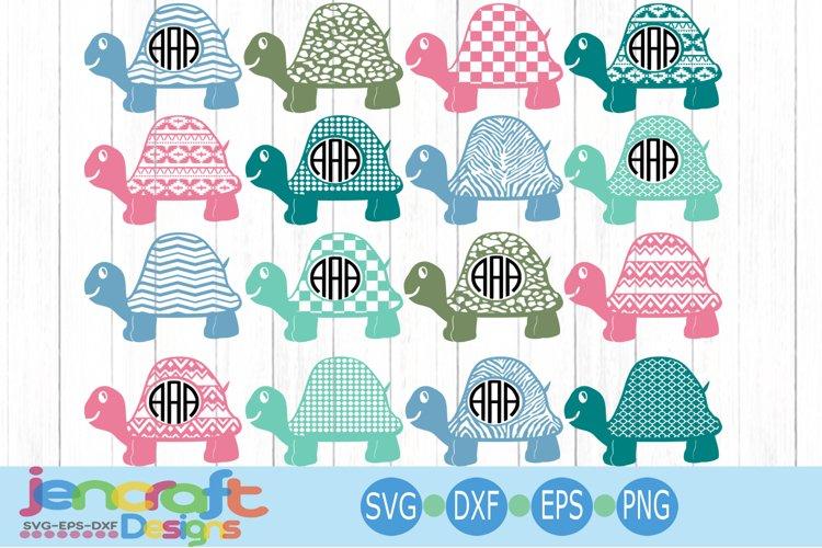 Pattern Turtle svg Monogram frame set Grunge SVG