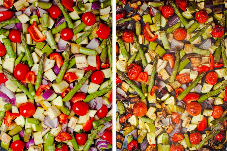 Collage with fresh vegetables example image 1