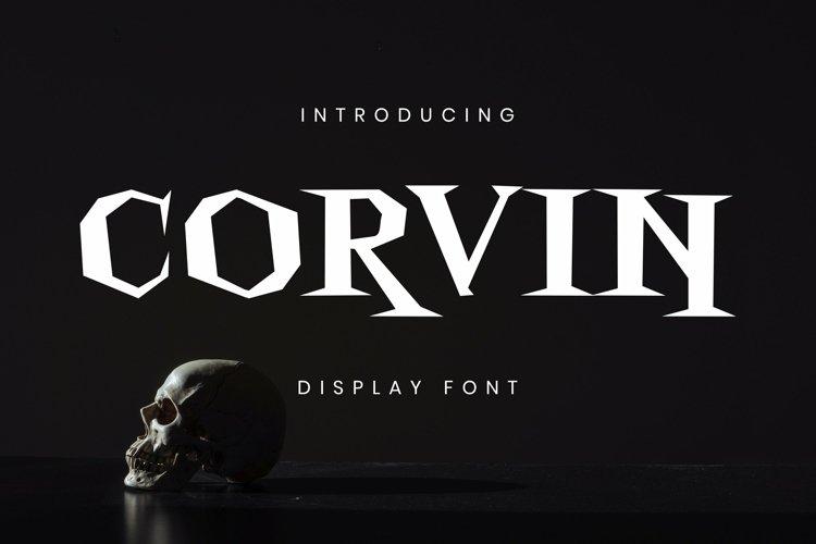 Web Font Corvin Font example image 1
