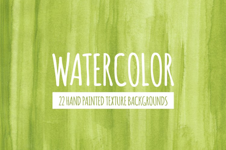 22 Green Watercolor Texture Backgrounds
