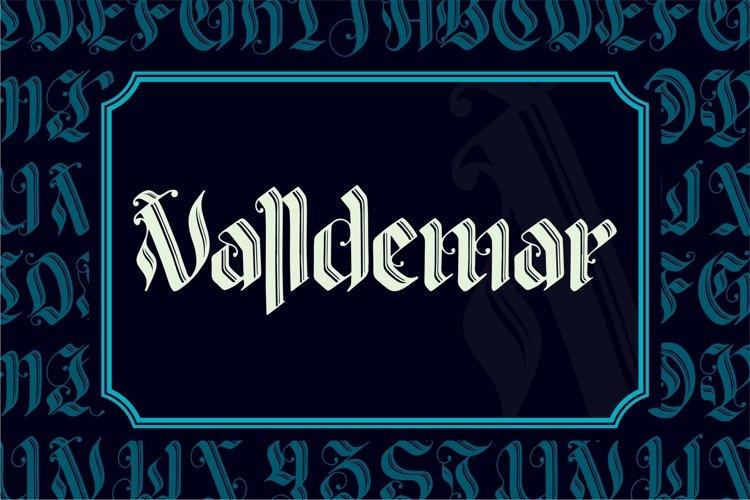 VALLDEMAR Blackletter example image 1