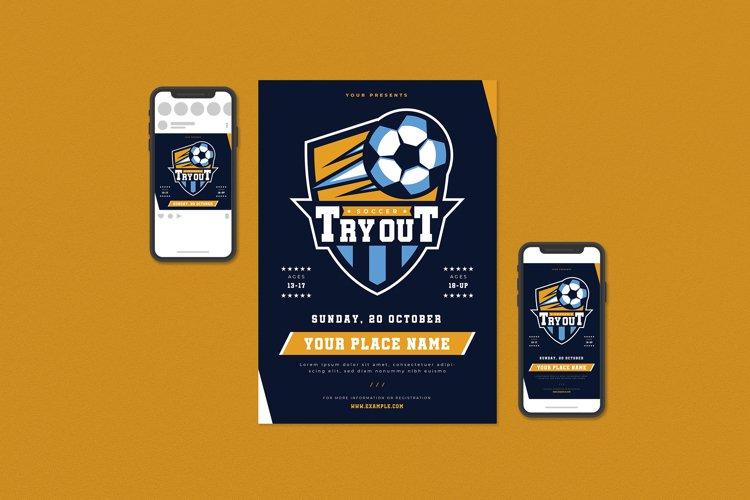 Soccer Tryout Flyer