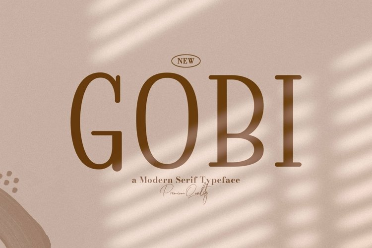 Web Font Gobi example image 1