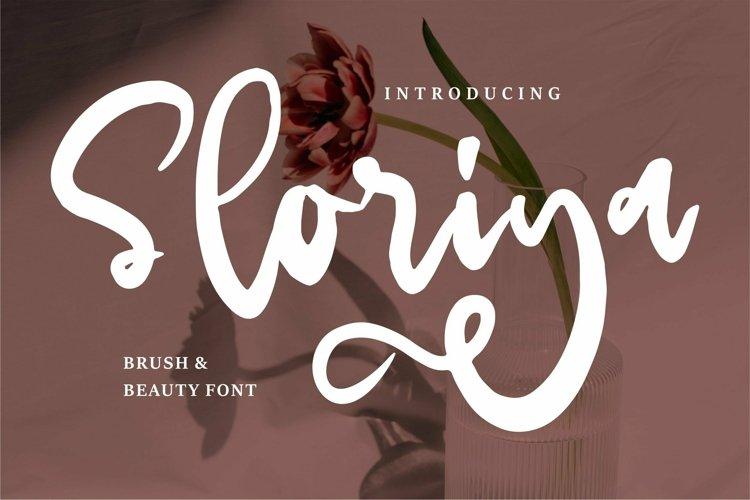 Web Font Sloriya - Brush & Beauty Font example image 1