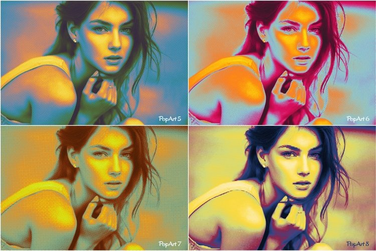 10 Pop Art Photoshop Actions - Pack