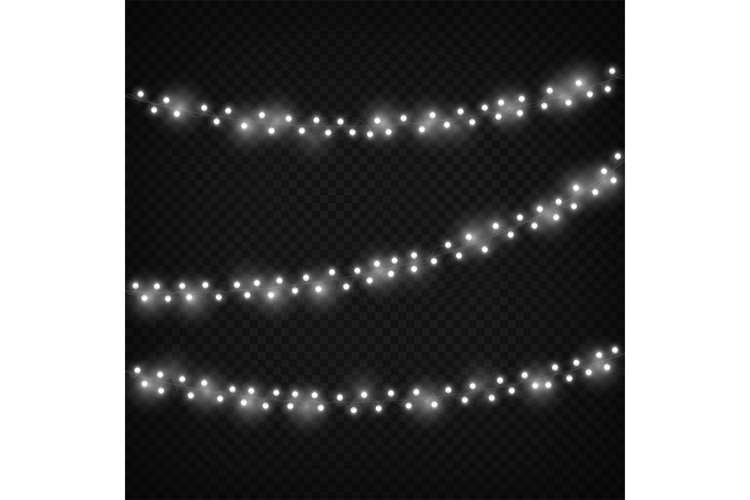 White christmas lights. Festive light decoration, winter hol example image 1