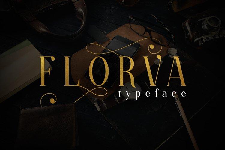 Web Font Florva example image 1