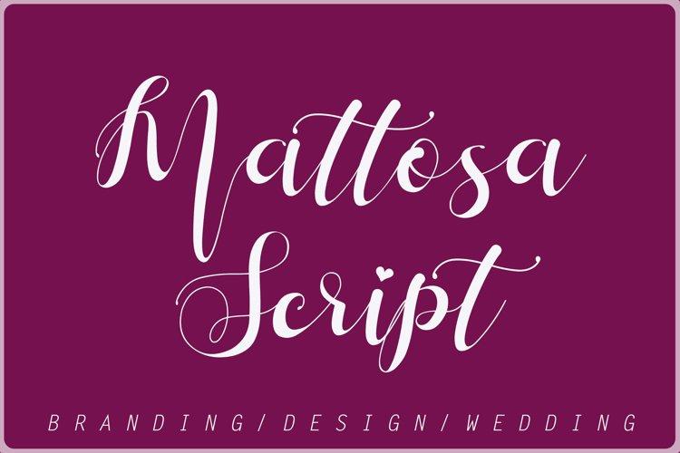 Mattosa Script example image 1