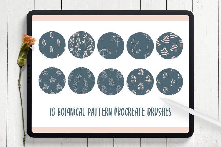 Botanical Seamless Pattern Procreate Brushes example image 1