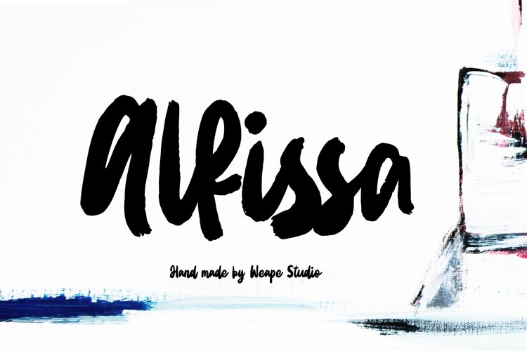 Alfissa - Brush Font example image 1