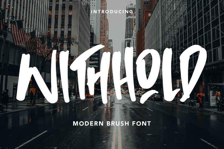 Withhold - Modern Brush Font example image 1