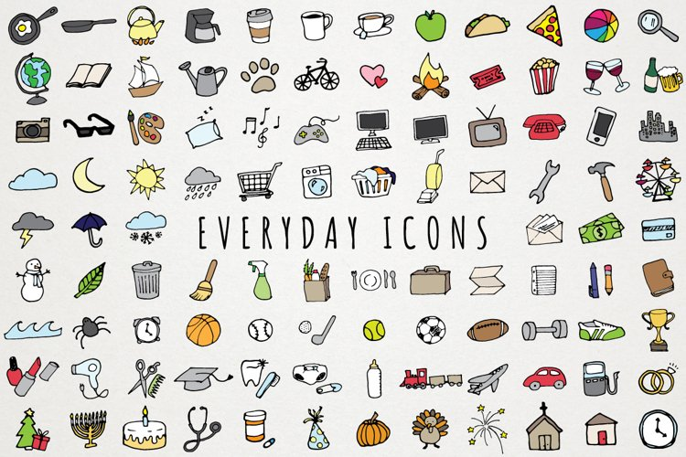 Everyday Items & To Do Clipart Set