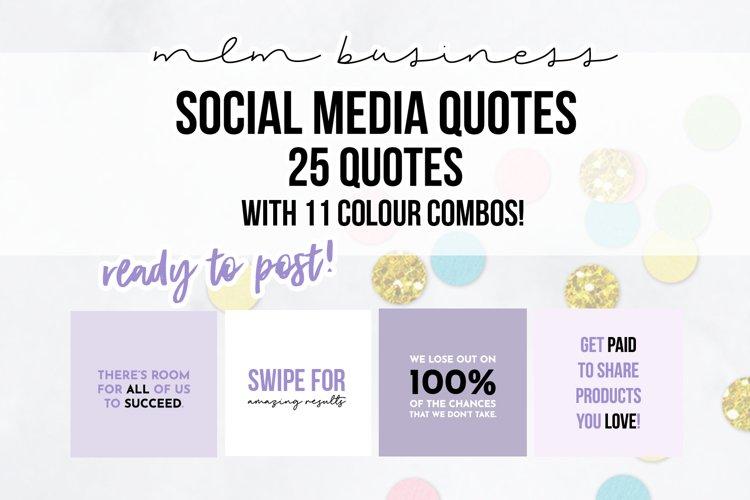 25 x Purple Sleepy Social Media Quotes example image 1