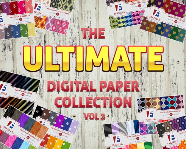 The ULTIMATE Digital Paper Bundle Vol 3