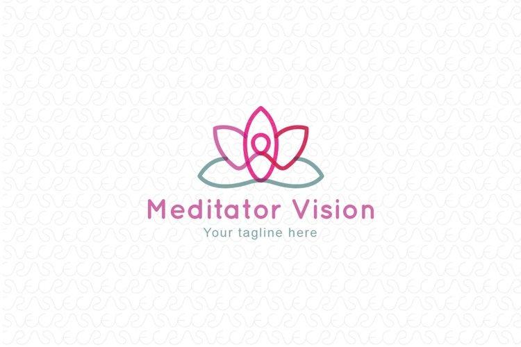 Meditator Vision - Human Figure Stock Logo Template example image 1