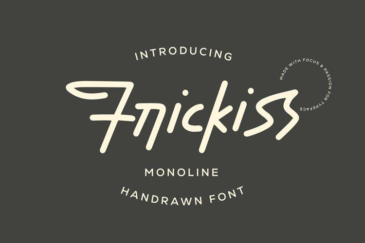 Web Font Frickiss - Monoline Handrawn Font example image 1