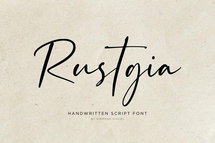 Rustgia - Handwritten Script example image 1