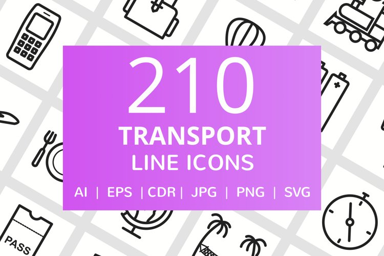 210 Transport Line Icons example image 1