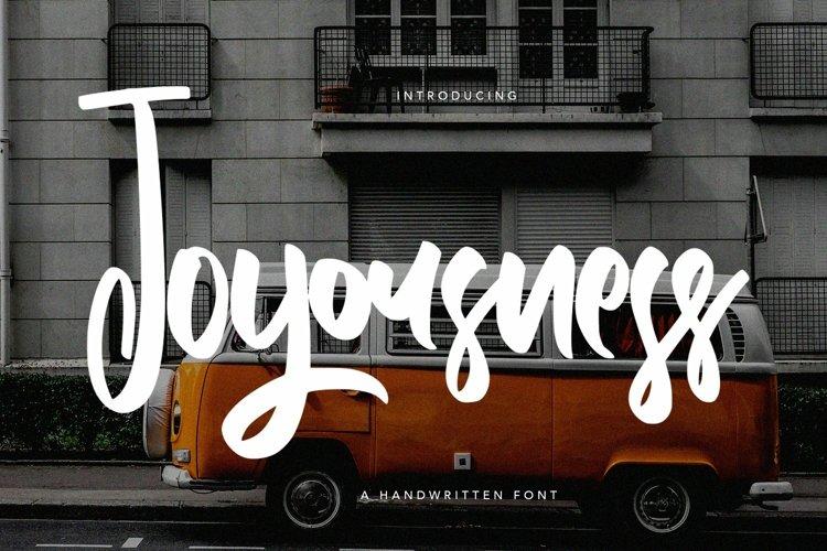 Web Font Joyousness - Handwritten Font example image 1