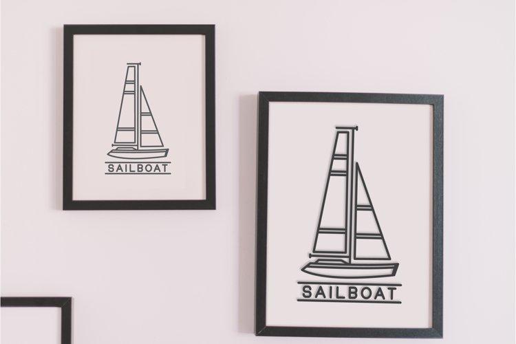 sailboat outline logo design example image 1