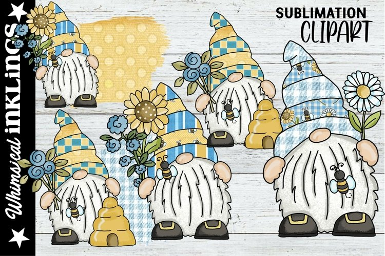 Sweet Bee Gnomes Sublimation Clipart