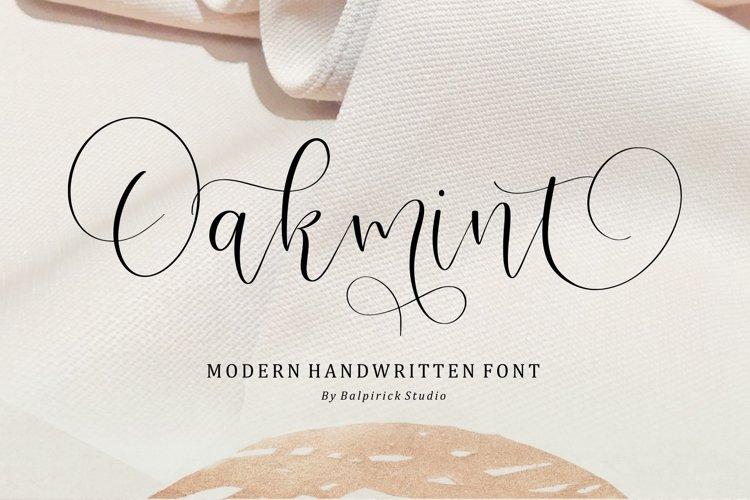 Oakmint Modern Handwritten Font example image 1