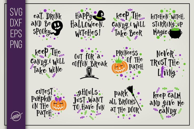Funny halloween quotes bundle