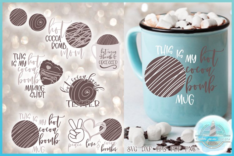 Hot Cocoa Bomb SVG Bundle   Hot Chocolate Bomb Maker Tester example image 1