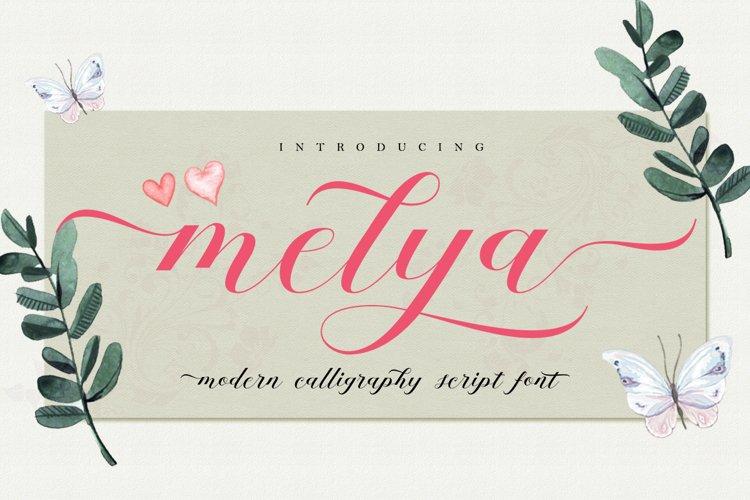 Melya Script example image 1