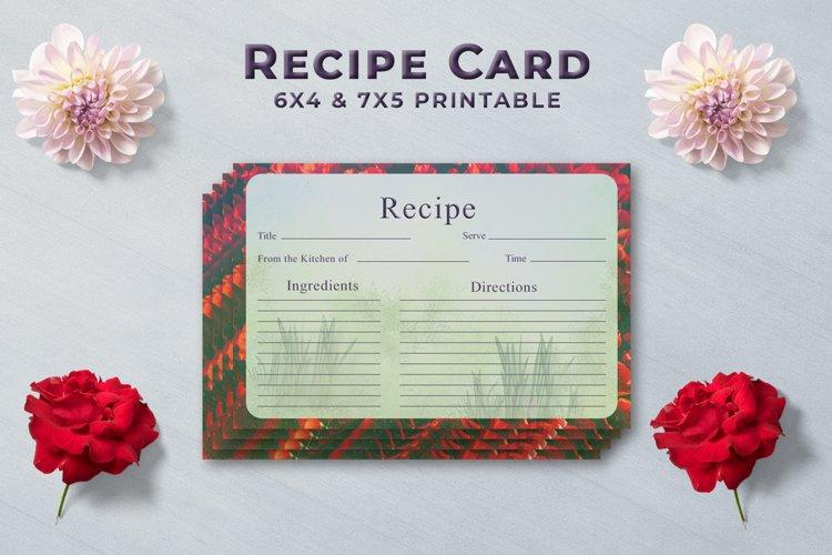 Artistic Recipe Card Template V1 example image 1
