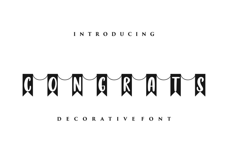 Congrats - Decorative font example image 1