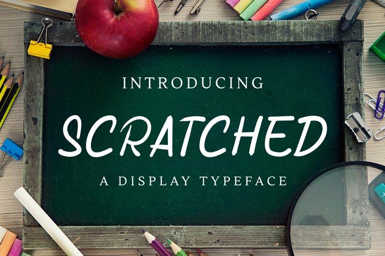 Web Font Scratched