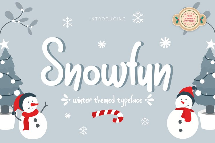 Snowfun Cute Winter Font example image 1
