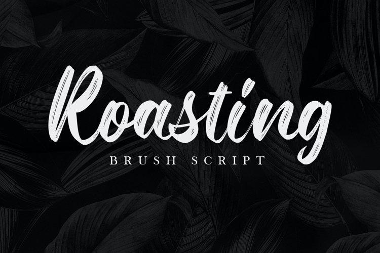 Roasting Brush Script Font example image 1