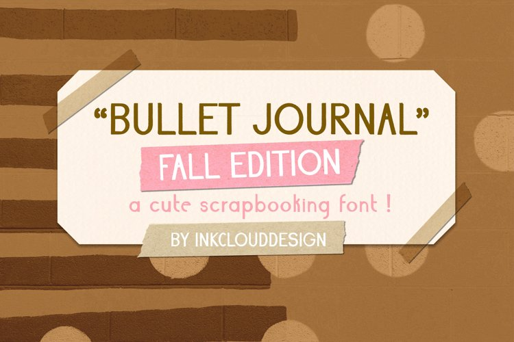 Fall Script Bullet Journal Font | Autumn Planner Scrapbook