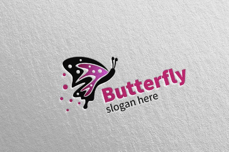 Butterfly Logo vol 4 example image 1