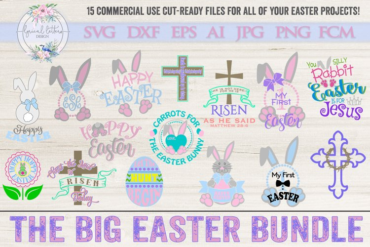The Big Easter Bundle of 15 SVG DXF FCM Cut Files