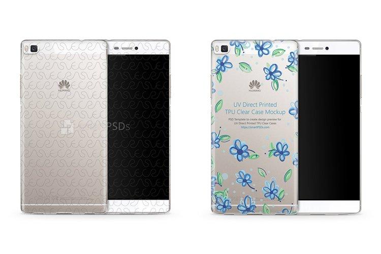 Huawei P8 UV TPU Clear Mobile Case Design Mockup 2015 example image 1