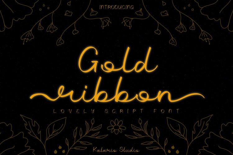 Gold Ribbon   Web Font example image 1