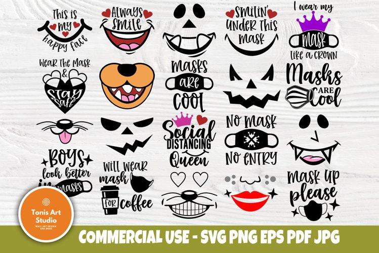 Kids Face Masks SVG Bundle, Svg Quotes, Cut Files for Cricut example image 1