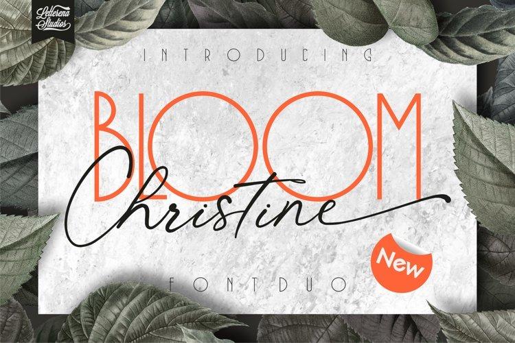 BLOOM Christine - Sans Serif and Signature Font example image 1