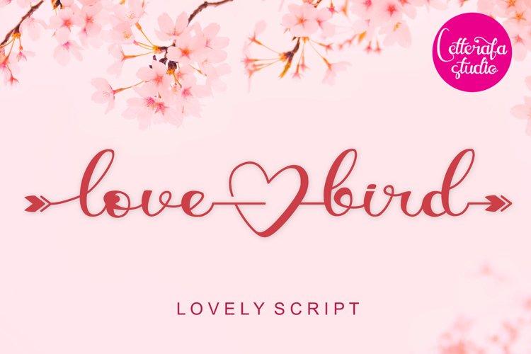 Lovebird - Lovely Script Font example image 1