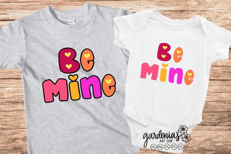 Be Mine SVG Bubble Letters | Kids Valentines Cut File
