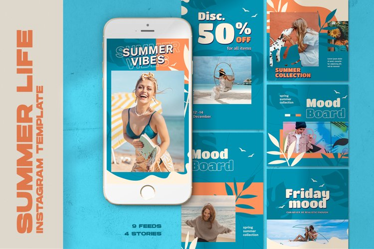 Summer Life Instagram Templates example image 1