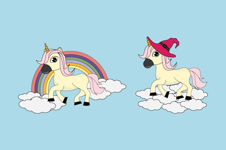 cute unicorn cartoon example image 1