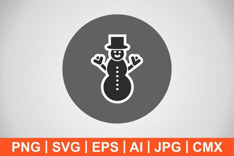 Vector Snowman Icon example image 1